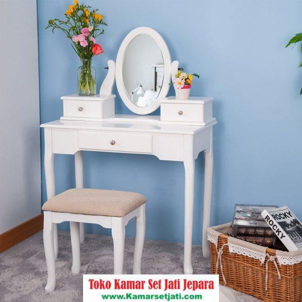 Meja Rias Anak Warna Putih Minimalis