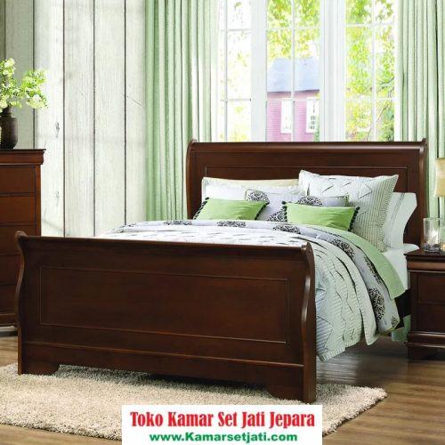 Tempat Tidur Dipan Kayu Model Minimalis
