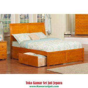 Tempat Tidur Minimalis Laci Simpel