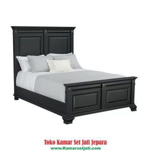 Tempat Tidur Minimalis Simple Kayu Jati