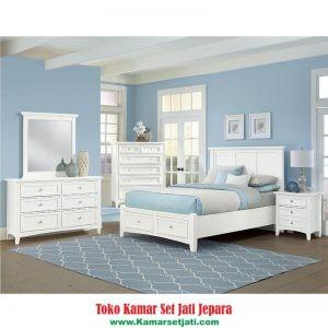 Kamar Set Minimalis Duco Putih Modern