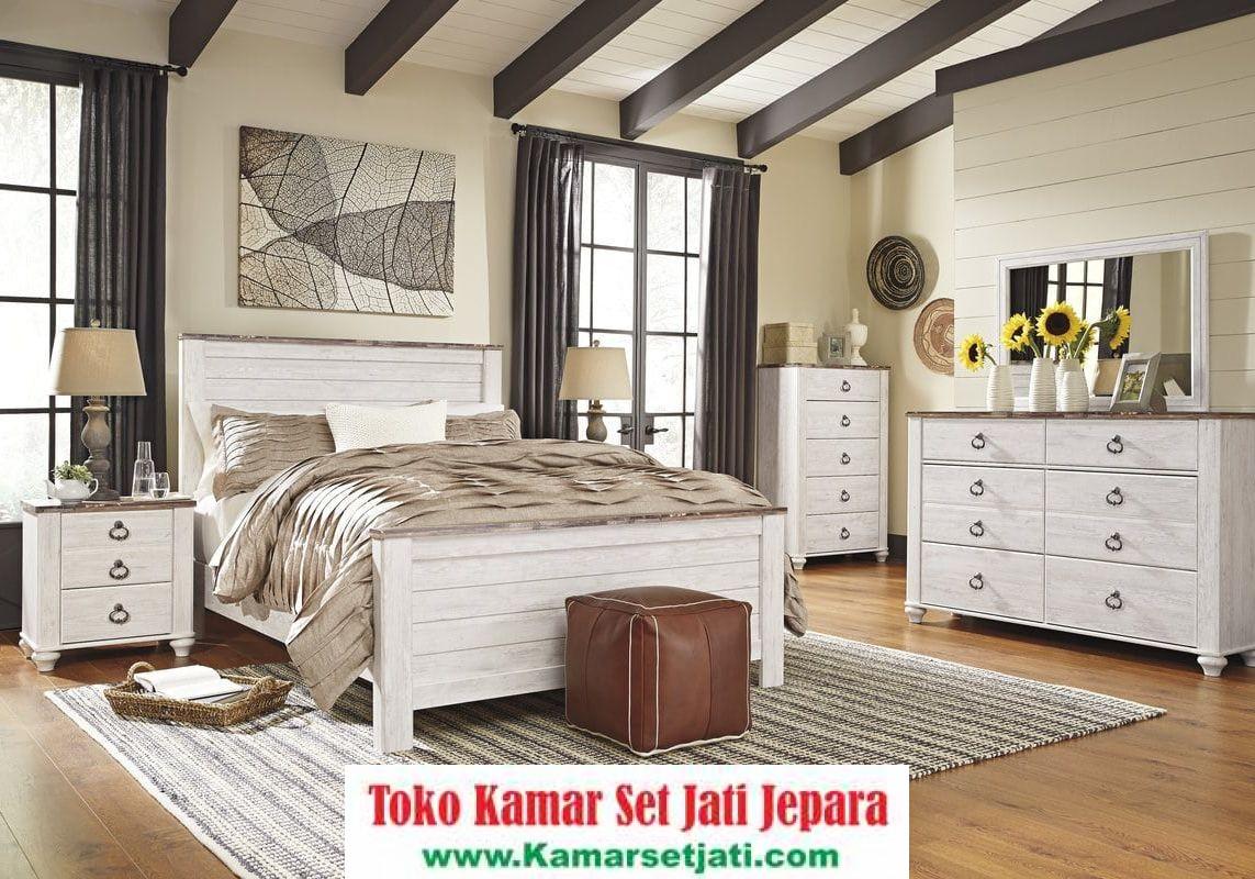 jual kamar set minimalis duco putih