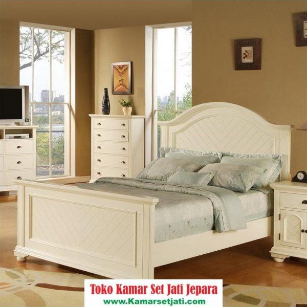 jual kamar set modern cat duco putih