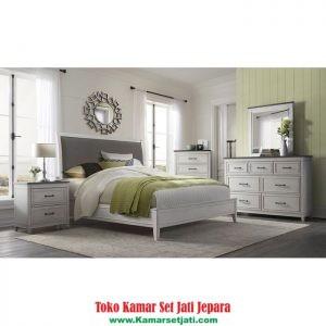 jual set kamar tidur cat duco putih