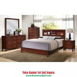 jual set kamar tidur sederhana kayu jati