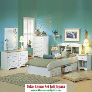 kamar set anak mewah duco putih