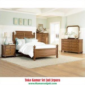 kamar set minimalis kayu jati solid