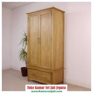 lemari pakaian baju kayu jati jepara