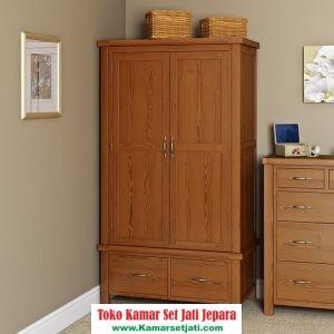 lemari pakaian kayu jati harga murah