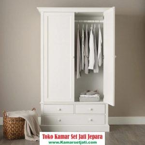 lemari pakaian minimalis duco 2 pintu