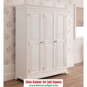 lemari pakaian minimalis elegant 3 pintu