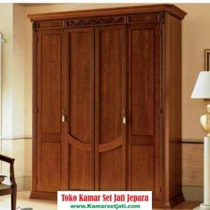 lemari pakaian modern mewah kayu jati