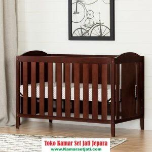 ranjang bayi minimalis kayu jati jepara