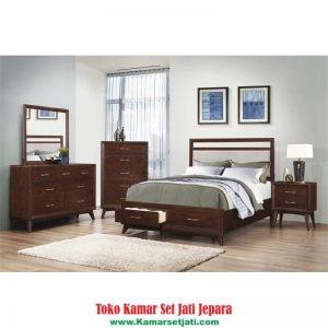 set kamar tidur minimalis laci harga murah