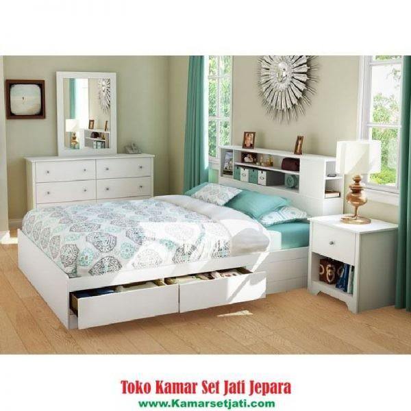 set kamar tidur modern model laci