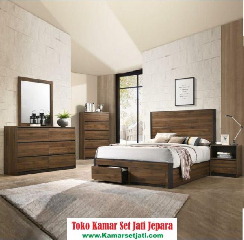 Model Set Kamar Tidur Minimalis Jati